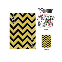 Chevron9 Black Marble & Yellow Watercolor Playing Cards 54 (mini)