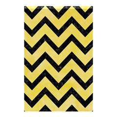 Chevron9 Black Marble & Yellow Watercolor Shower Curtain 48  X 72  (small)