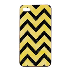 Chevron9 Black Marble & Yellow Watercolor Apple Iphone 4/4s Seamless Case (black)