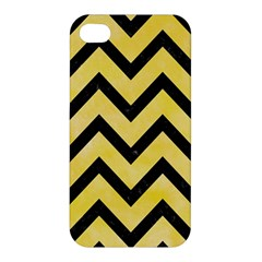 Chevron9 Black Marble & Yellow Watercolor Apple Iphone 4/4s Hardshell Case