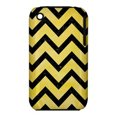 Chevron9 Black Marble & Yellow Watercolor Iphone 3s/3gs