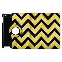 Chevron9 Black Marble & Yellow Watercolor Apple Ipad 3/4 Flip 360 Case