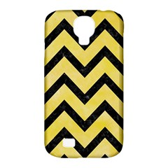 Chevron9 Black Marble & Yellow Watercolor Samsung Galaxy S4 Classic Hardshell Case (pc+silicone)