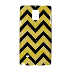 Chevron9 Black Marble & Yellow Watercolor Samsung Galaxy Note 4 Hardshell Case