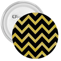 Chevron9 Black Marble & Yellow Watercolor (r) 3  Buttons