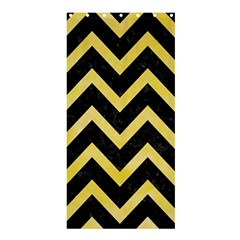 Chevron9 Black Marble & Yellow Watercolor (r) Shower Curtain 36  X 72  (stall)