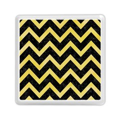 Chevron9 Black Marble & Yellow Watercolor (r) Memory Card Reader (square)