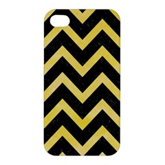 Chevron9 Black Marble & Yellow Watercolor (r) Apple Iphone 4/4s Hardshell Case