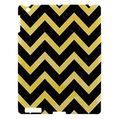 Chevron9 Black Marble & Yellow Watercolor (r) Apple Ipad 3/4 Hardshell Case