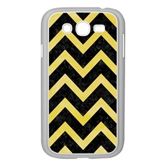 Chevron9 Black Marble & Yellow Watercolor (r) Samsung Galaxy Grand Duos I9082 Case (white)