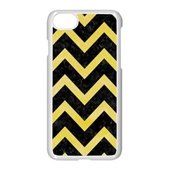 Chevron9 Black Marble & Yellow Watercolor (r) Apple Iphone 8 Seamless Case (white)