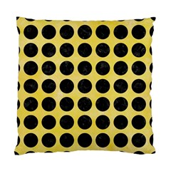 Circles1 Black Marble & Yellow Watercolor Standard Cushion Case (two Sides)