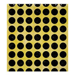 Circles1 Black Marble & Yellow Watercolor Shower Curtain 66  X 72  (large)