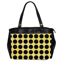 Circles1 Black Marble & Yellow Watercolor Office Handbags (2 Sides)