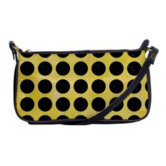 Circles1 Black Marble & Yellow Watercolor Shoulder Clutch Bags