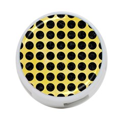 Circles1 Black Marble & Yellow Watercolor 4 Port Usb Hub (one Side)
