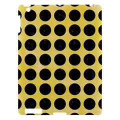 Circles1 Black Marble & Yellow Watercolor Apple Ipad 3/4 Hardshell Case