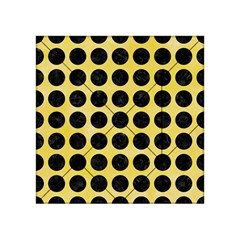 Circles1 Black Marble & Yellow Watercolor Acrylic Tangram Puzzle (4  X 4 )