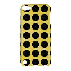 Circles1 Black Marble & Yellow Watercolor Apple Ipod Touch 5 Hardshell Case