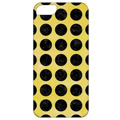 Circles1 Black Marble & Yellow Watercolor Apple Iphone 5 Classic Hardshell Case