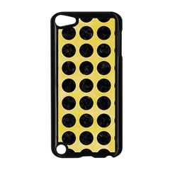 Circles1 Black Marble & Yellow Watercolor Apple Ipod Touch 5 Case (black)