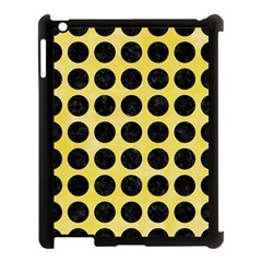 Circles1 Black Marble & Yellow Watercolor Apple Ipad 3/4 Case (black)