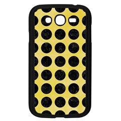 Circles1 Black Marble & Yellow Watercolor Samsung Galaxy Grand Duos I9082 Case (black)