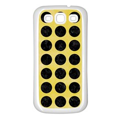 Circles1 Black Marble & Yellow Watercolor Samsung Galaxy S3 Back Case (white)