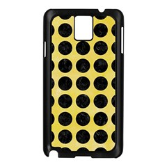 Circles1 Black Marble & Yellow Watercolor Samsung Galaxy Note 3 N9005 Case (black)