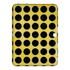 Circles1 Black Marble & Yellow Watercolor Samsung Galaxy Tab 4 (10 1 ) Hardshell Case