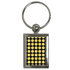Circles1 Black Marble & Yellow Watercolor (r) Key Chains (rectangle)