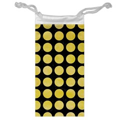 Circles1 Black Marble & Yellow Watercolor (r) Jewelry Bag