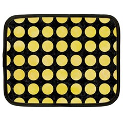 Circles1 Black Marble & Yellow Watercolor (r) Netbook Case (xxl)