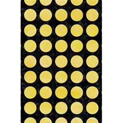 Circles1 Black Marble & Yellow Watercolor (r) 5 5  X 8 5  Notebooks