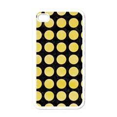 Circles1 Black Marble & Yellow Watercolor (r) Apple Iphone 4 Case (white)