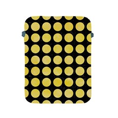 Circles1 Black Marble & Yellow Watercolor (r) Apple Ipad 2/3/4 Protective Soft Cases