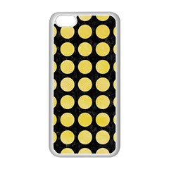 Circles1 Black Marble & Yellow Watercolor (r) Apple Iphone 5c Seamless Case (white)