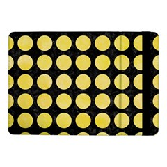 Circles1 Black Marble & Yellow Watercolor (r) Samsung Galaxy Tab Pro 10 1  Flip Case