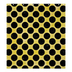Circles2 Black Marble & Yellow Watercolor Shower Curtain 66  X 72  (large)