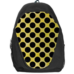 Circles2 Black Marble & Yellow Watercolor Backpack Bag