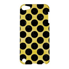 Circles2 Black Marble & Yellow Watercolor Apple Ipod Touch 5 Hardshell Case