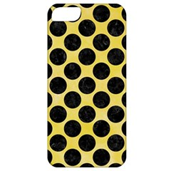 Circles2 Black Marble & Yellow Watercolor Apple Iphone 5 Classic Hardshell Case