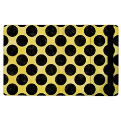 Circles2 Black Marble & Yellow Watercolor Apple Ipad 2 Flip Case