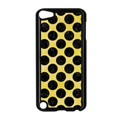Circles2 Black Marble & Yellow Watercolor Apple Ipod Touch 5 Case (black)