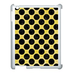 Circles2 Black Marble & Yellow Watercolor Apple Ipad 3/4 Case (white)