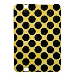 Circles2 Black Marble & Yellow Watercolor Kindle Fire Hd 8 9