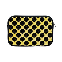 Circles2 Black Marble & Yellow Watercolor Apple Ipad Mini Zipper Cases