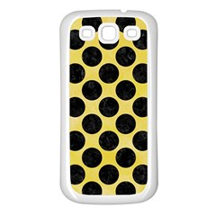 Circles2 Black Marble & Yellow Watercolor Samsung Galaxy S3 Back Case (white)