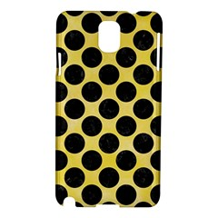 Circles2 Black Marble & Yellow Watercolor Samsung Galaxy Note 3 N9005 Hardshell Case