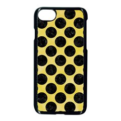 Circles2 Black Marble & Yellow Watercolor Apple Iphone 7 Seamless Case (black)